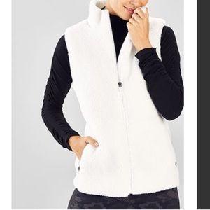 Fabletics White Sherpa jacket